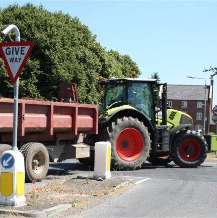 Farmer and tractor in Costock