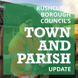 Image of Town and Parish Update leaflet. Downloadable on clicking.